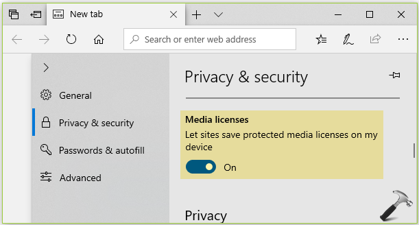 How To Allow Sites To Save Protected Media Licenses In Microsoft Edge