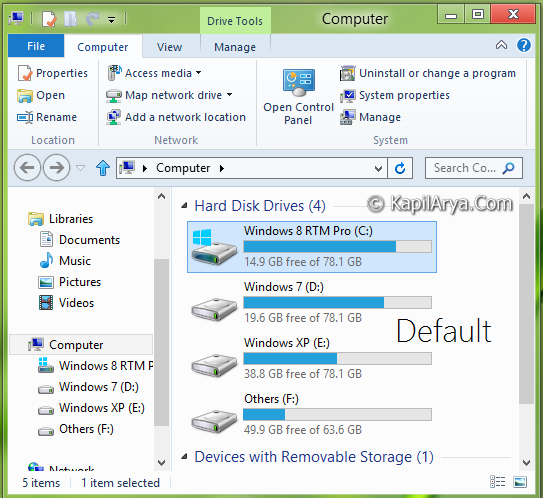 how to change icons size in windows 8