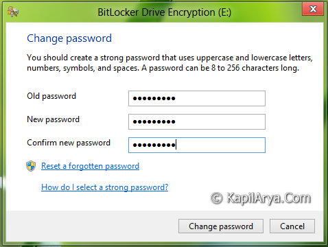 how to change password on one drive