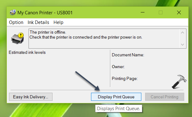 Change Printer From Offline To Online Status In Windows 10