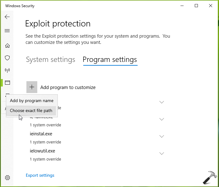 How To Configure Exploit Protection For Windows Security In Windows 10