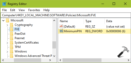 How To Configure Minimum PIN Length For Startup In Windows 10