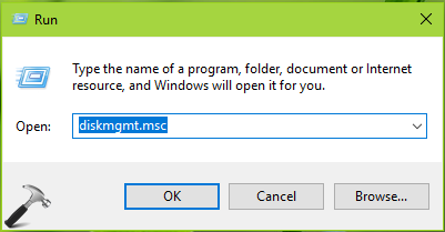 Disk Management In Windows 10
