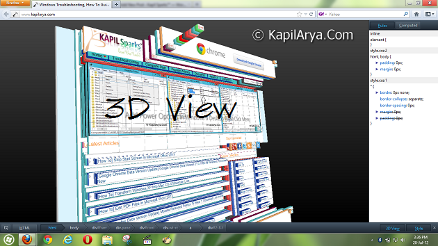 How To] Disable 3D View In Mozilla Firefox