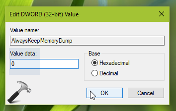 How To Disable Automatic Deletion Of Memory Dumps On Low Disk Space