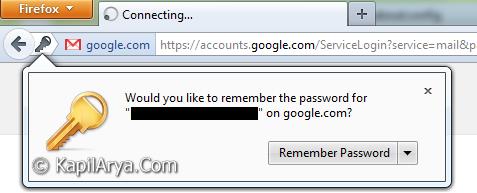remember password
