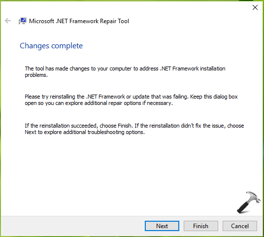 Download Microsoft .NET Framework Repair Tool For Windows 10