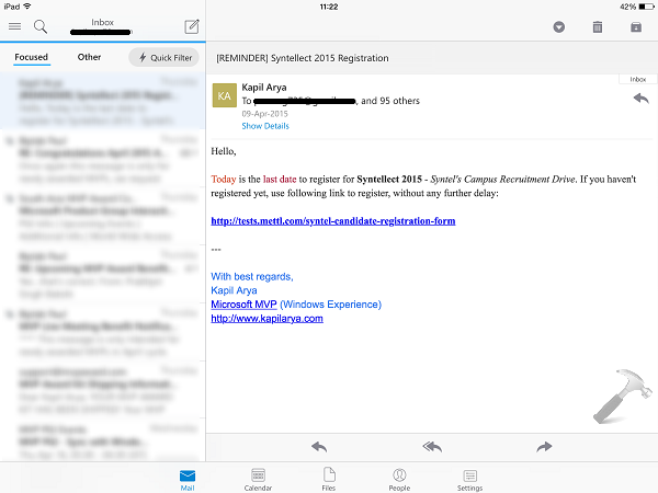 Download Microsoft Outlook Official App For iPad, iPhone