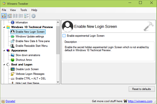 Download WinAero Tweaker For Windows 7 Or Later