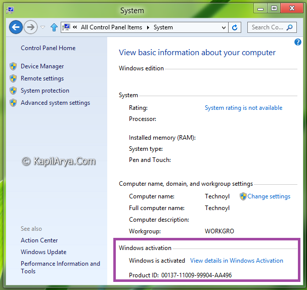 how to get windows key from command prompt