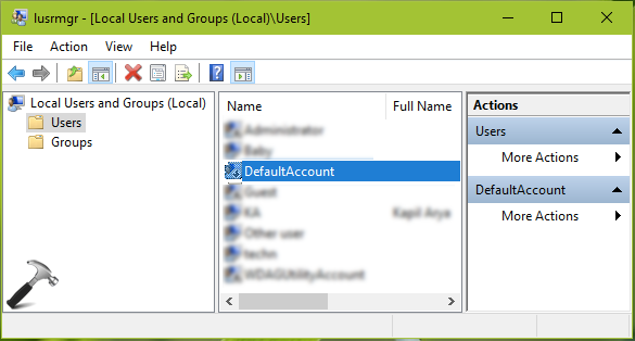 What Is DefaultAccount In Windows 10