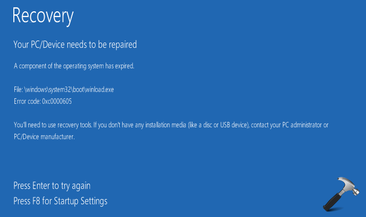 FIX - A Component Of The Operating System Has Expired For Windows 10
