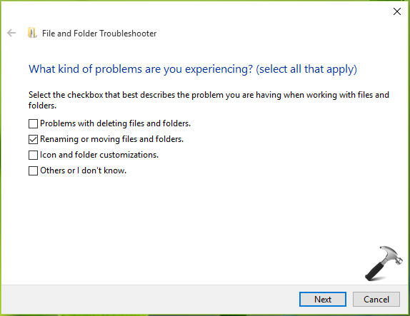 FIX An Unexpected Error Is Keeping You From Renaming The Folder (0x80004005) In Windows 10/8.1/8/7