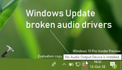 FIX Audio Lost After Windows 10 October 2018 Update