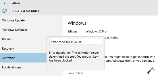 FIX Cannot Activate Windows 10 Due To Various Errors