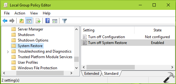 FIX: Can't Enable System Protection In Windows 10