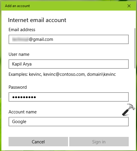 FIX Can't Add Gmail Account To Windows 10 Mail App