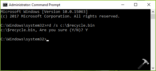 FIX Corrupted Recycle Bin On Windows 10