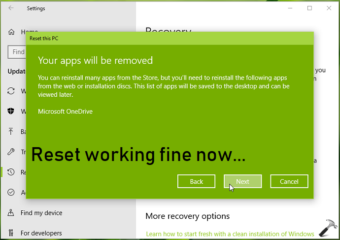 FIX Could Not Find The Recovery Environment In Windows 10