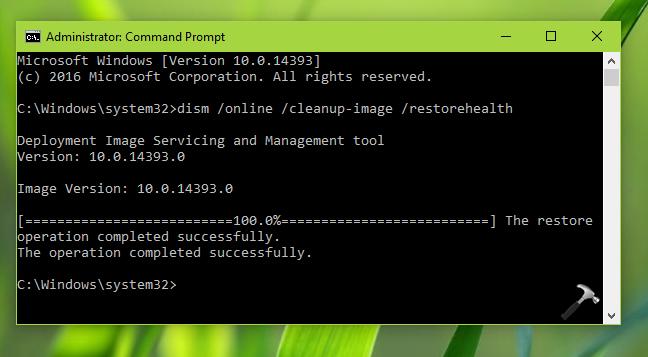 FIX DISM Error 1726, The Remote Procedure Call Failed In Windows 10