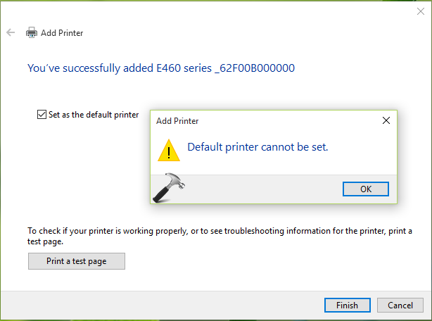 FIX Default Printer Cannot Be Set In Windows 10