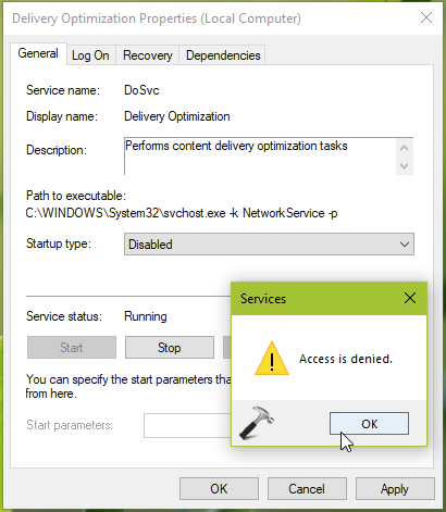 Delivery Optimization Won't Turn Off In Windows 10