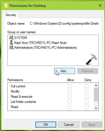 FIX Desktop Is Unavailable In Windows 10
