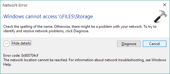 FIX Error 0x800704cf - The Network Location Cant Be Reached