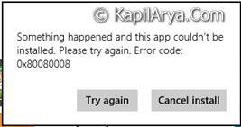FIX Error 0x80080008 While Updating Windows Apps In Windows 8