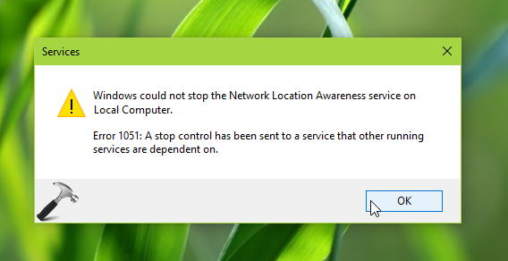 FIX Error 1051 A Stop Control Has Been Sent To A Service Which Other Running Services Are Dependent On In Windows 10