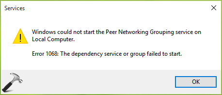 FIX Error 1068: The Dependency Service Or Group Failed To Start In Windows 10