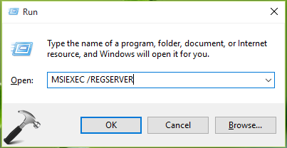 FIX - Error 1719. Windows Installer Service Could Not Be Accessed In Windows 10