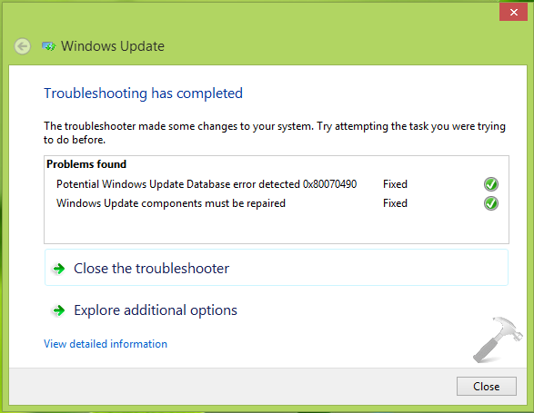 Failure Configuring Windows Updates. Reverting Changes.