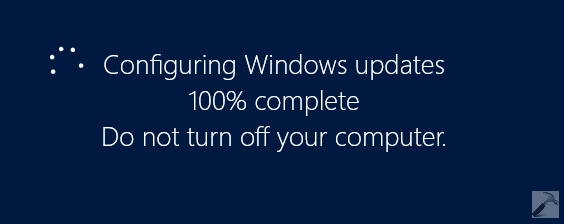 Failure Configuring Windows Updates. Reverting Changes.