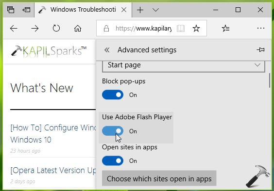 FIX Flash Player Not Working In Microsoft Edge
