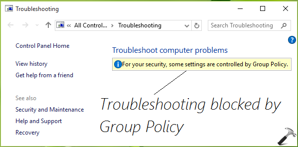 FIX For Your Security, Some Settings Are Controlled By Group Policy Windows 10
