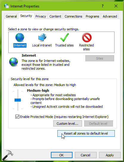 FIX INET_E_RESOURCE_NOT_FOUND In Microsoft Edge/Internet Explorer