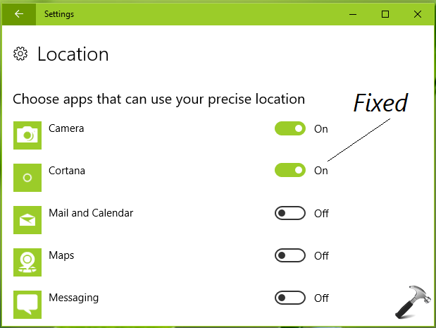 FIX Location History Must Be On For Cortana To Work In Windows 10