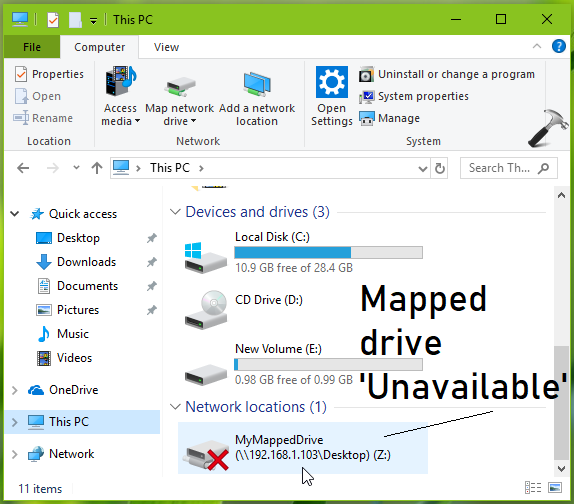 FIX Mapped Drives Not Working In Windows 10 V1809