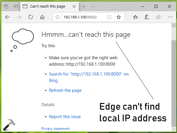 FIX Microsoft Edge Fails To Load Local IP Address