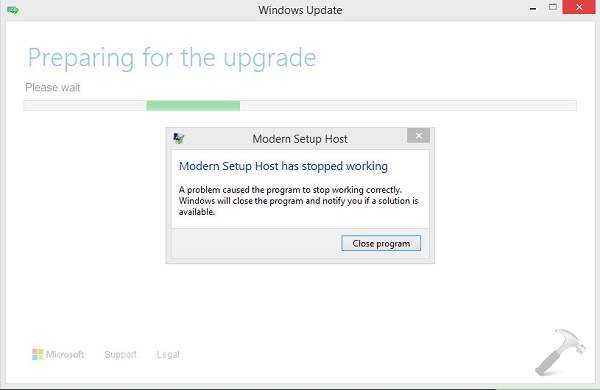 FIX - Modern Setup Host Has Stopped Working While Upgrading To Windows 10