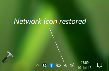 FIX Network Icon Missing From Windows 10 Taskbar
