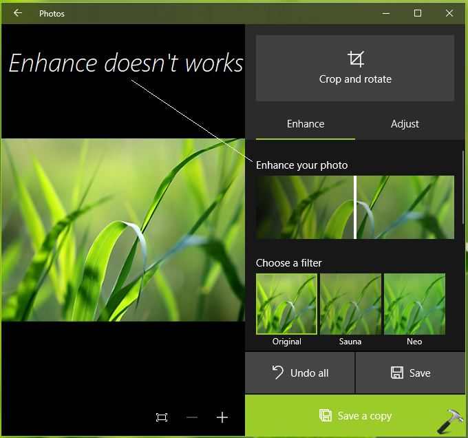 FIX Photos App Enhance Not Working In Windows 10