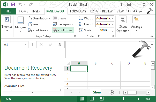 FIX - Print Titles Must Be Contiguous And Complete Rows Or Columns Microsoft Excel 2013