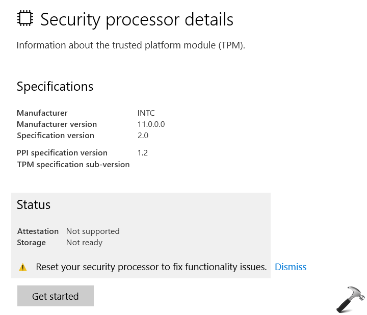 FIX Reset Your Processor To Fix Functionality Issues In Windows 10 V1803