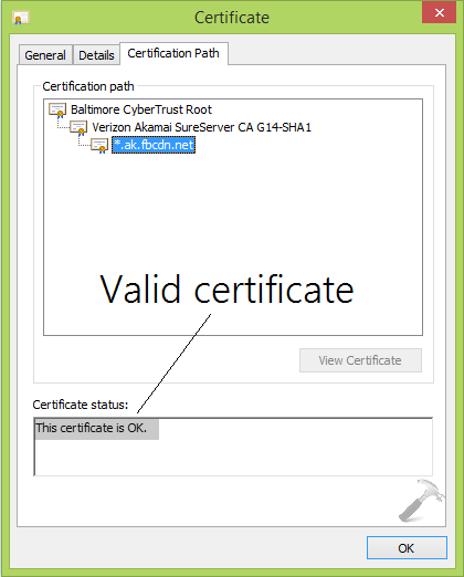 [FIX] Revocation Information For The Security Certificate For This Site Is Not Available