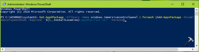 microsoft windows 10 settings fix