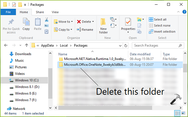 FIX - Something Went Wrong Error For OneNote App In Windows 10