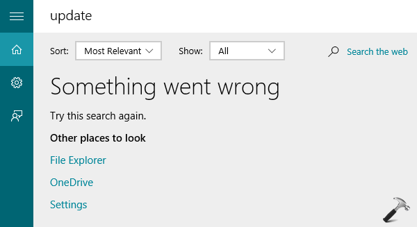 FIX - Something Went Wrong. Try This Search Again Error For Cortana