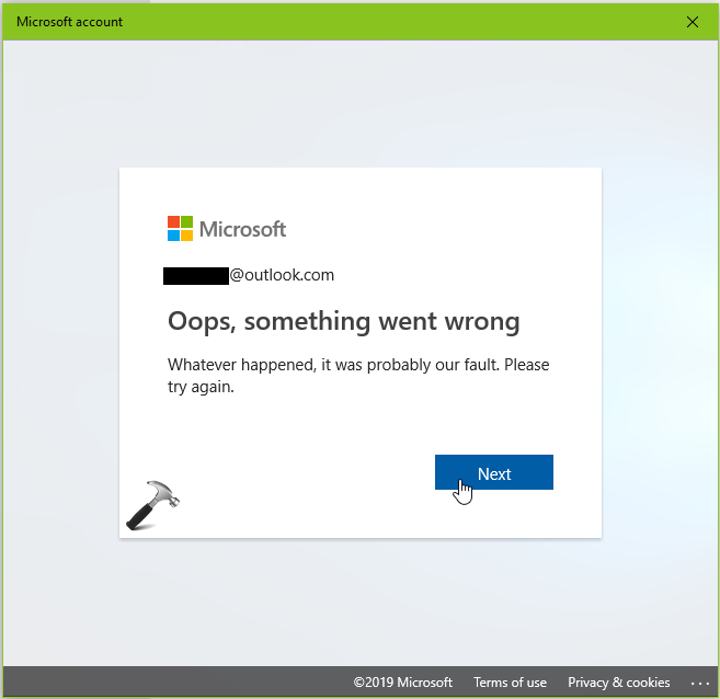 FIX Something Went Wrong While Switching To Microsoft Account